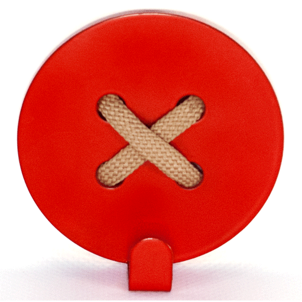 Wall Hook Glozis Button Red