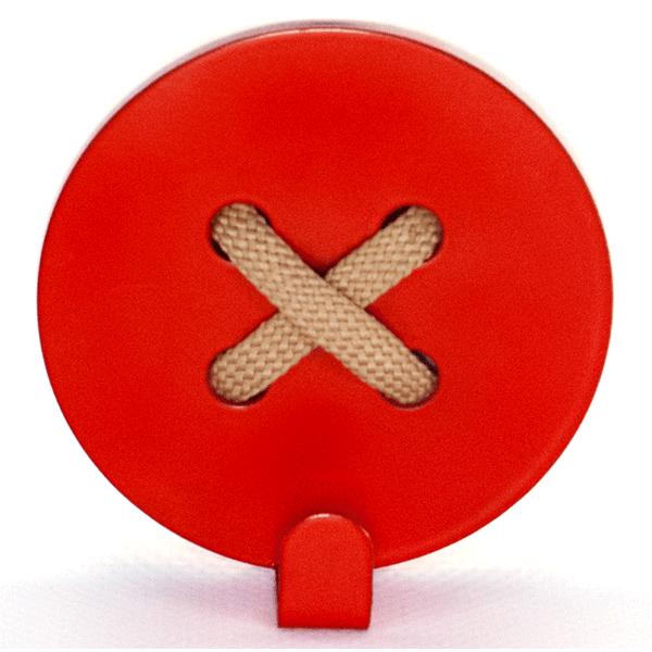 Вешалка настенная Glozis Button Red