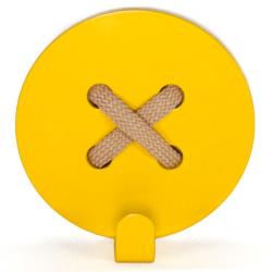 Wall Hook Glozis Button Yellow