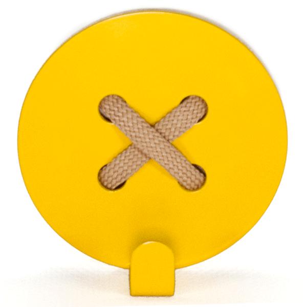 Вешалка настенная Glozis Button Yellow