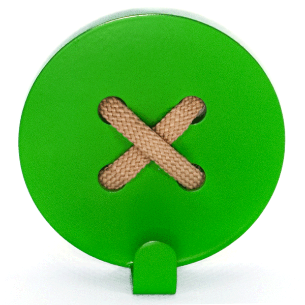 Wall Hook Glozis Button Green