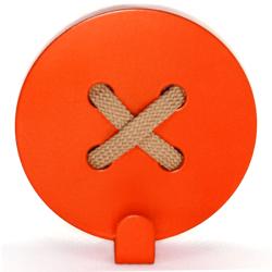 Вешалка настенная Glozis Button Orange