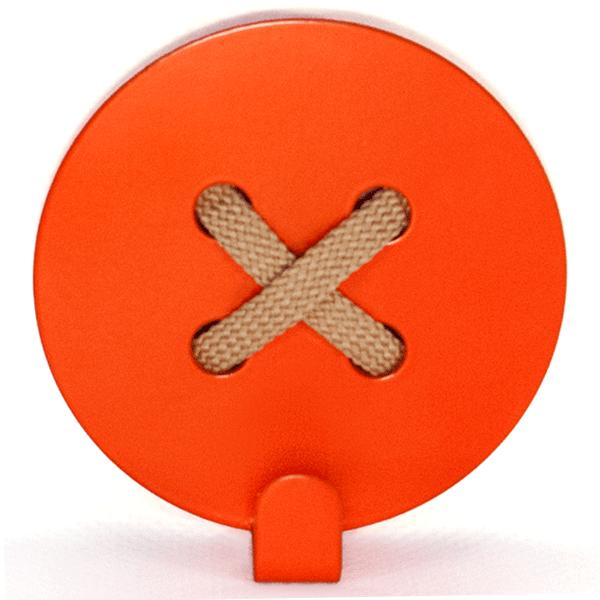 Настінний Гачок Glozis Button Orange