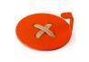 Wall Hook Glozis Button Orange