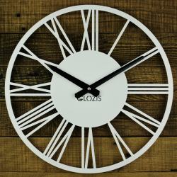 Wall Clock Glozis Rome White