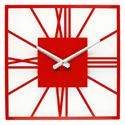 Wall Clock Glozis New York Red