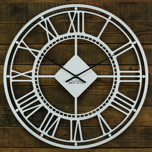 Wall Clock Glozis London White