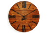 Wood Wall Clock Glozis Nevada Rust
