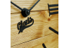 Wood Wall Clock Glozis Nevada Gold