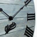 Wood Wall Clock Glozis Kansas Graphite