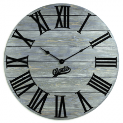 Wood Wall Clock Glozis Kansas Graphite