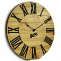 Wood Wall Clock Glozis Kansas Gold