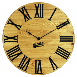 Wood Wall Clock Glozis Kansas Gold
