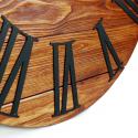 Wood Wall Clock Glozis Kansas Rust