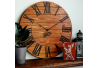 Wood Wall Clock Glozis Kansas Rust