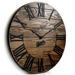 Дерев'яний Настінний Годинник Glozis Kansas Mokko
