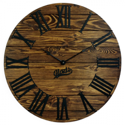 Wood Wall Clock Glozis Kansas Mokko
