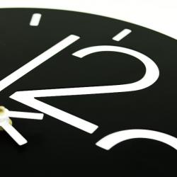 Wall Clock Glozis Rome Black