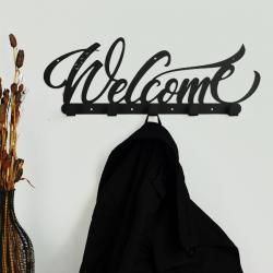 Вешалка настенная Glozis Welcome Black